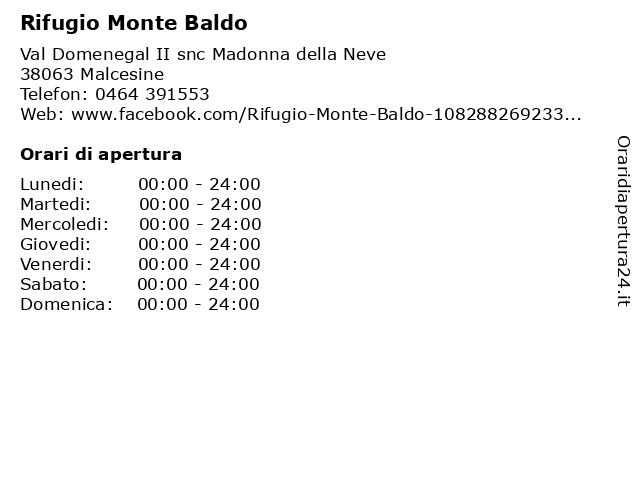Rifugio Monte Baldo a Malcesine: indirizzo e orari di apertura