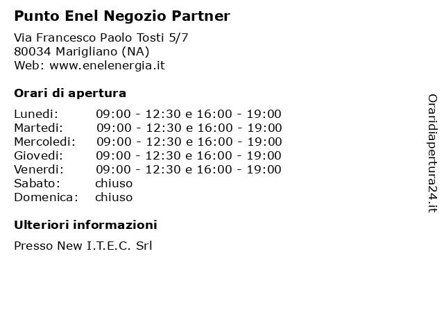 Punto Enel Negozio Partner a Marigliano (NA): indirizzo e orari di apertura