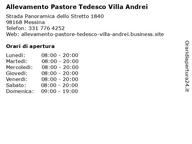 Allevamento Pastore Tedesco Villa Andrei a Messina: indirizzo e orari di apertura