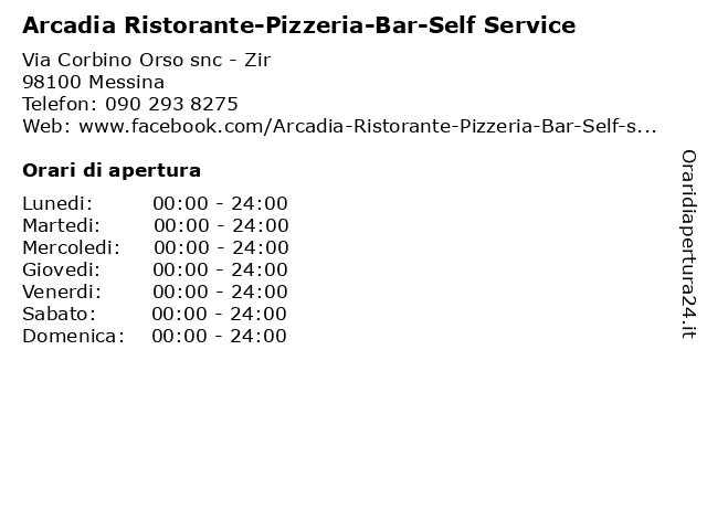 Arcadia Ristorante-Pizzeria-Bar-Self Service a Messina: indirizzo e orari di apertura