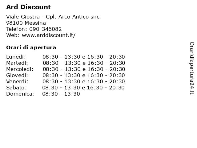 Ard Discount a Messina: indirizzo e orari di apertura