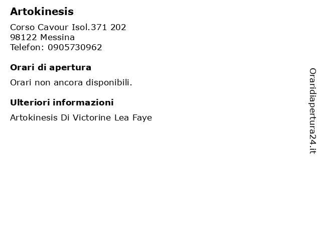Artokinesis a Messina: indirizzo e orari di apertura