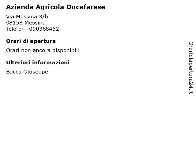 Azienda Agricola Ducafarese a Messina: indirizzo e orari di apertura
