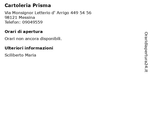 Cartoleria Prisma a Messina: indirizzo e orari di apertura