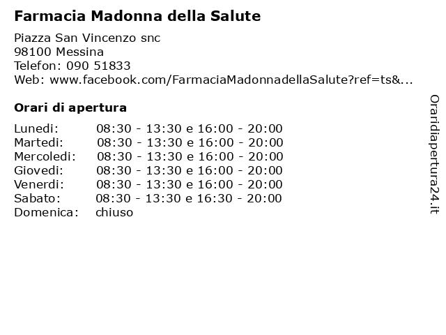 Farmacia Madonna della Salute a Messina: indirizzo e orari di apertura