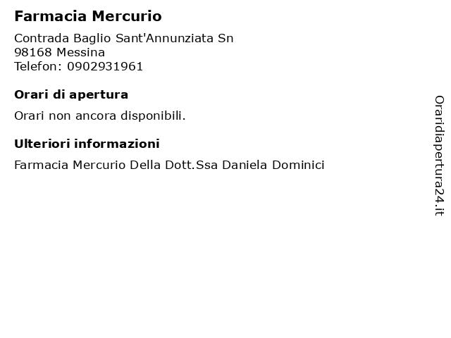 Farmacia Mercurio a Messina: indirizzo e orari di apertura