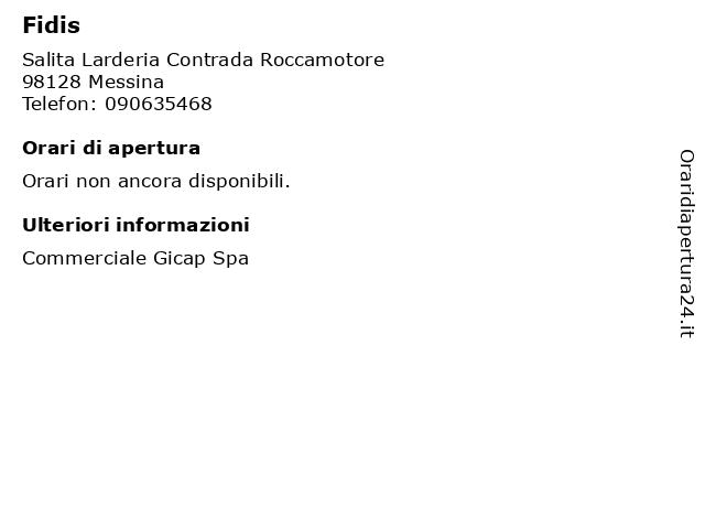 Fidis a Messina: indirizzo e orari di apertura