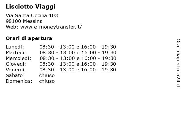 Lisciotto Viaggi a Messina: indirizzo e orari di apertura
