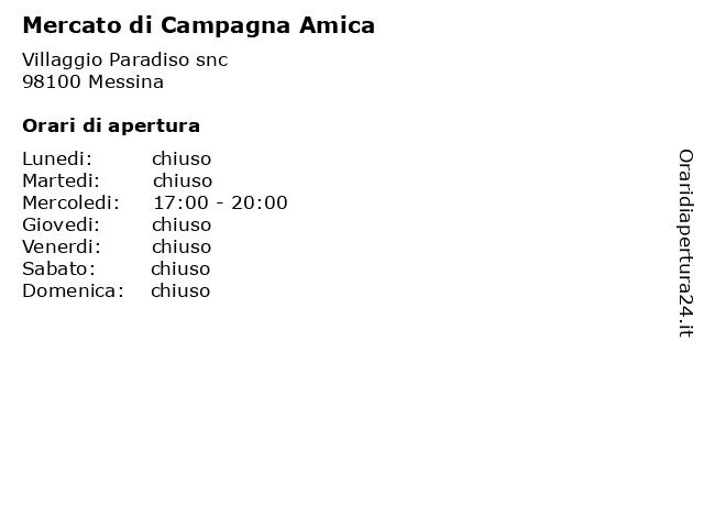 Mercato di Campagna Amica a Messina: indirizzo e orari di apertura