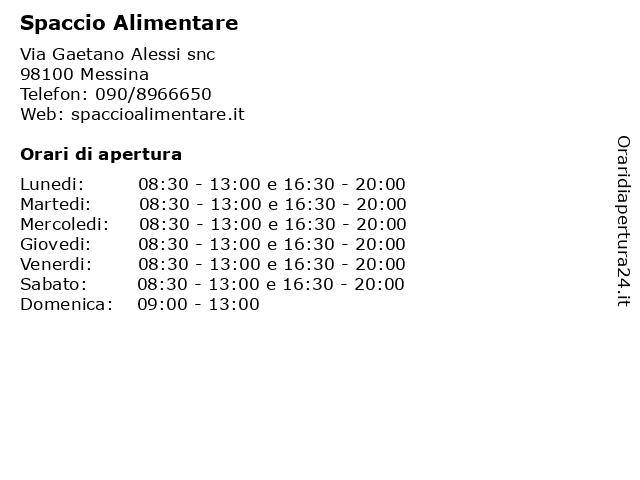 Spaccio Alimentare a Messina: indirizzo e orari di apertura
