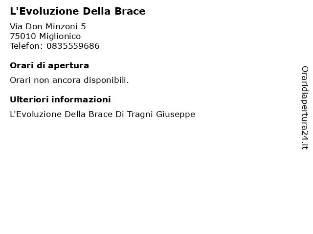 L'Evoluzione Della Brace a Miglionico: indirizzo e orari di apertura