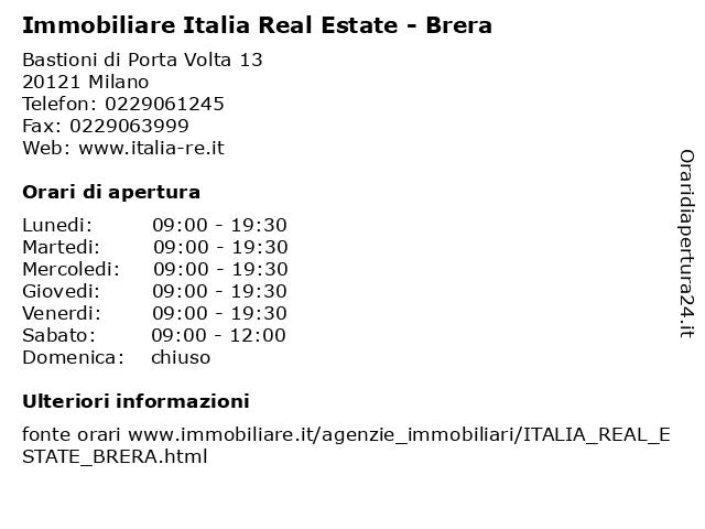 Immobiliare Italia Real Estate - Brera a Milano: indirizzo e orari di apertura