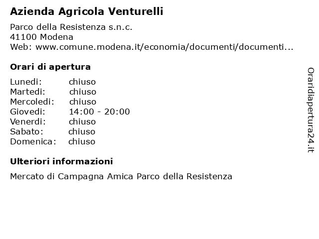 Azienda Agricola Venturelli a Modena: indirizzo e orari di apertura