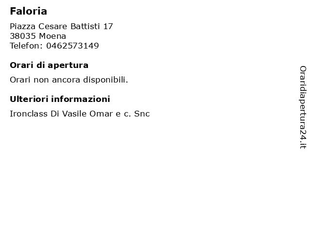 Faloria a Moena: indirizzo e orari di apertura