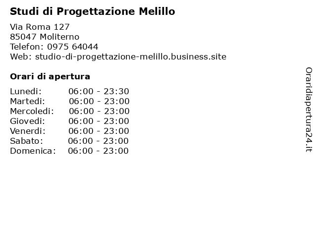 Studi di Progettazione Melillo a Moliterno: indirizzo e orari di apertura
