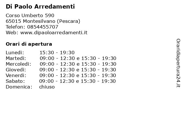 ᐅ Orari Di Apertura Di Paolo Arredamenti Corso Umberto