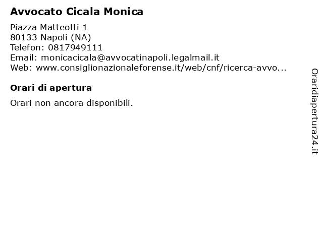 Avvocato Cicala Monica a Napoli (NA): indirizzo e orari di apertura