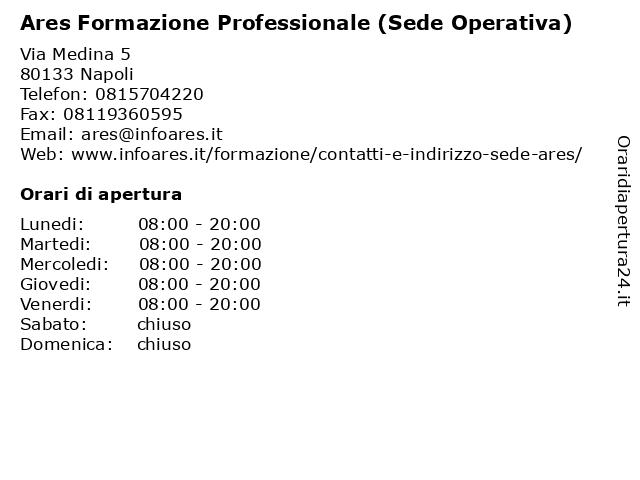 Ares Formazione Professionale (Sede Operativa) a Napoli: indirizzo e orari di apertura