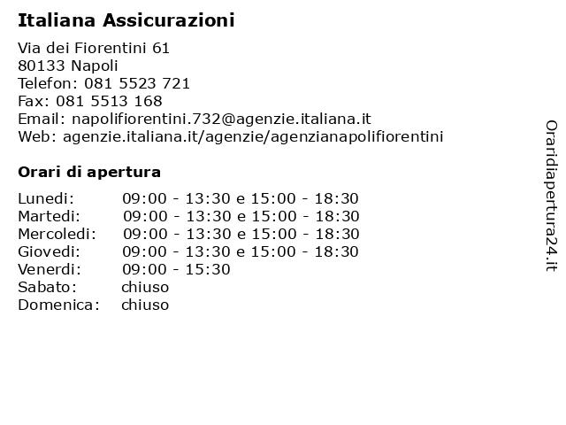 Italiana Assicurazioni a Napoli: indirizzo e orari di apertura