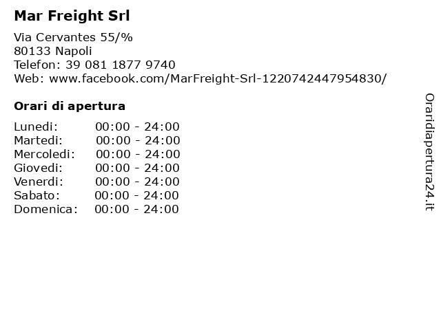 Mar Freight Srl a Napoli: indirizzo e orari di apertura