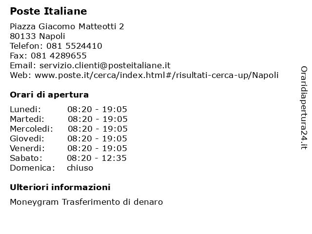 Poste Italiane a Napoli: indirizzo e orari di apertura