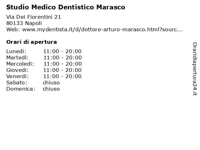 Studio Medico Dentistico Marasco a Napoli: indirizzo e orari di apertura