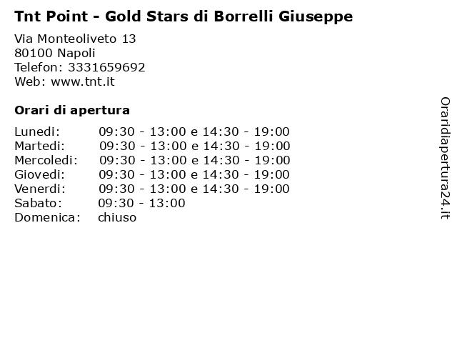 Tnt Point - Gold Stars di Borrelli Giuseppe a Napoli: indirizzo e orari di apertura