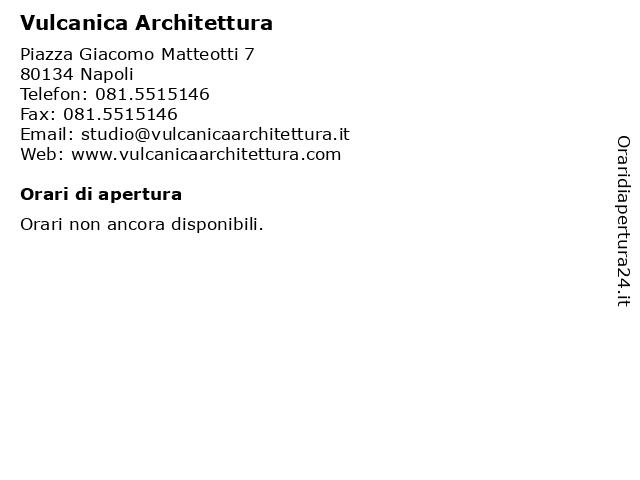 Vulcanica Architettura a Napoli: indirizzo e orari di apertura