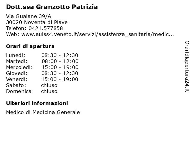 Dott. Pignata Natalino a Noventa di Piave: indirizzo e orari di apertura