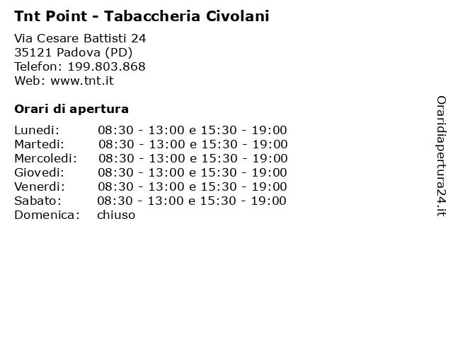Tnt Point - Tabaccheria Civolani a Padova (PD): indirizzo e orari di apertura
