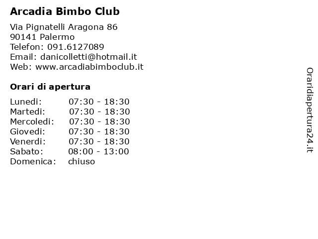 Arcadia Bimbo Club a Palermo: indirizzo e orari di apertura