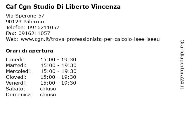 Caf Cgn Studio Bacchi Adele a Palermo: indirizzo e orari di apertura