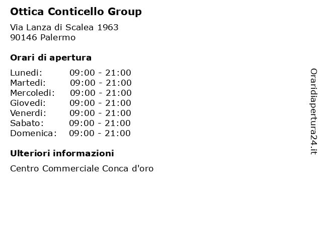 Ottica Conticello Group a Palermo: indirizzo e orari di apertura