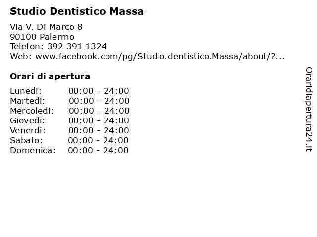 Studio Dentistico Massa a Palermo: indirizzo e orari di apertura