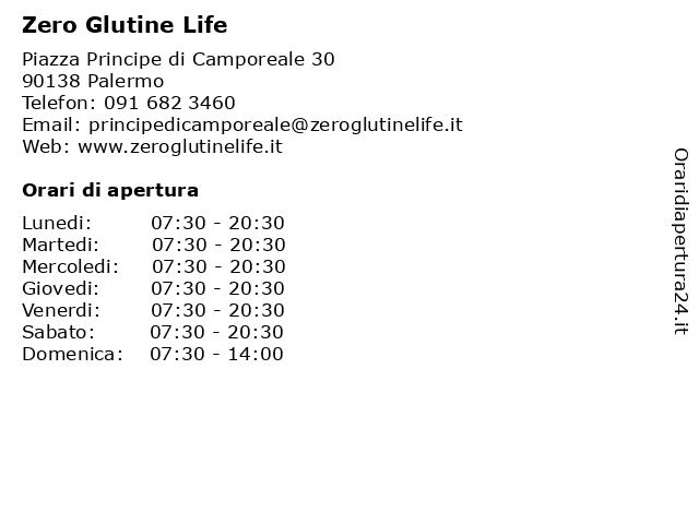 Zero Glutine Life a Palermo: indirizzo e orari di apertura