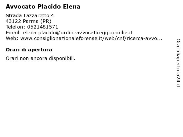 Avvocato Placido Elena a Parma (PR): indirizzo e orari di apertura