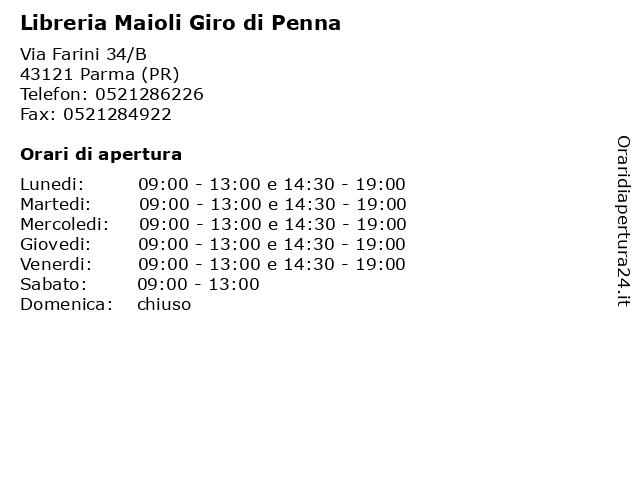 Libreria Maioli a Parma (PR): indirizzo e orari di apertura