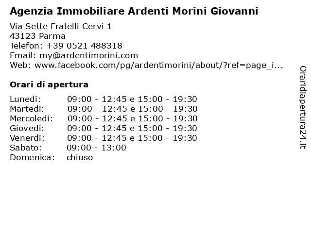 Agenzia Immobiliare Ardenti Morini Giovanni a Parma: indirizzo e orari di apertura
