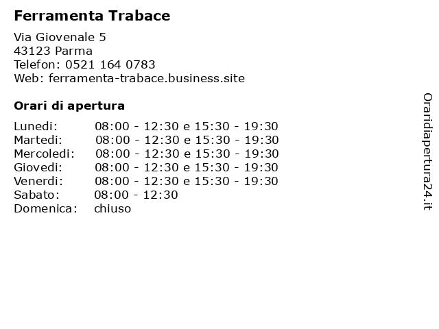 Ferramenta Trabace a Parma: indirizzo e orari di apertura