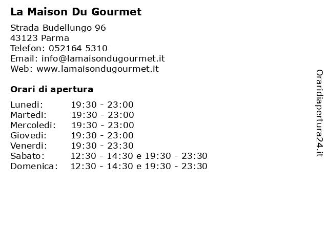 La Maison Du Gourmet a Parma: indirizzo e orari di apertura