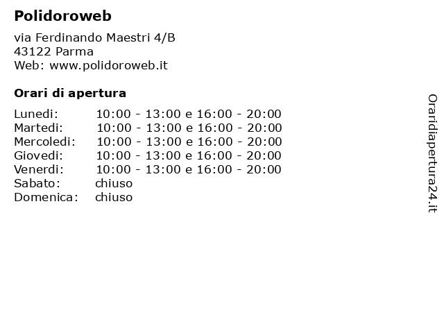 Polidoroweb a Parma: indirizzo e orari di apertura