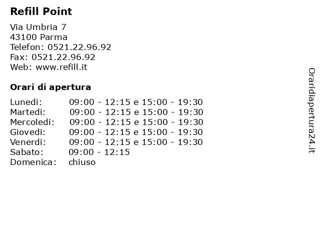 Refill Point a Parma: indirizzo e orari di apertura