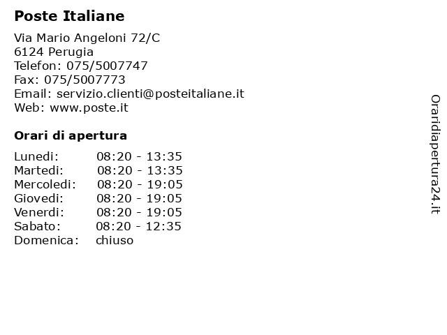 Poste Italiane a Perugia: indirizzo e orari di apertura