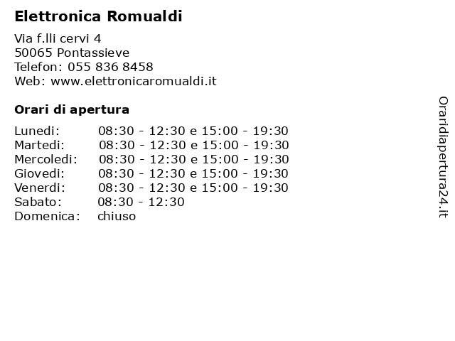 Elettronica Romualdi a Pontassieve: indirizzo e orari di apertura