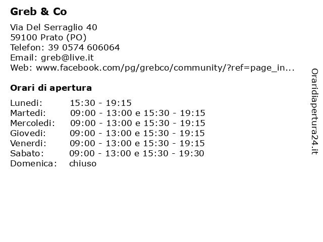 Greb & Co a Prato (PO): indirizzo e orari di apertura