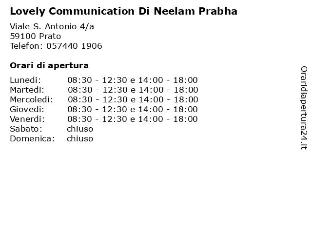 Lovely Communication Di Neelam Prabha a Prato: indirizzo e orari di apertura
