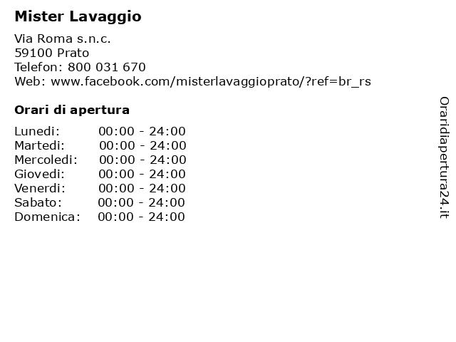 Mister Lavaggio a Prato: indirizzo e orari di apertura