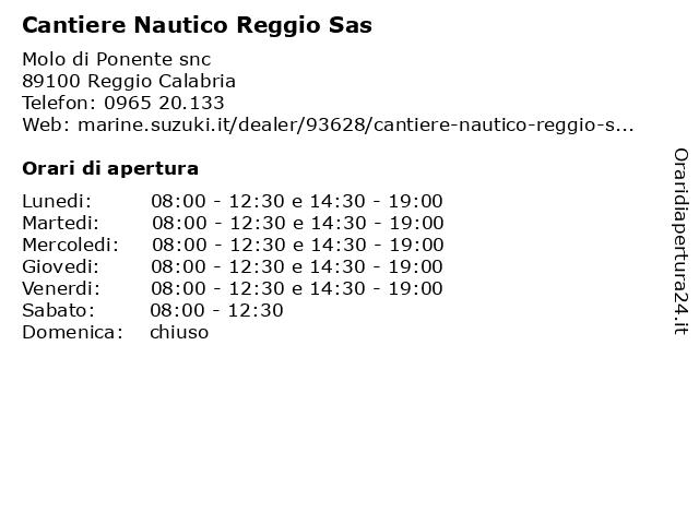 Cantiere Nautico Reggio Sas a Reggio Calabria: indirizzo e orari di apertura