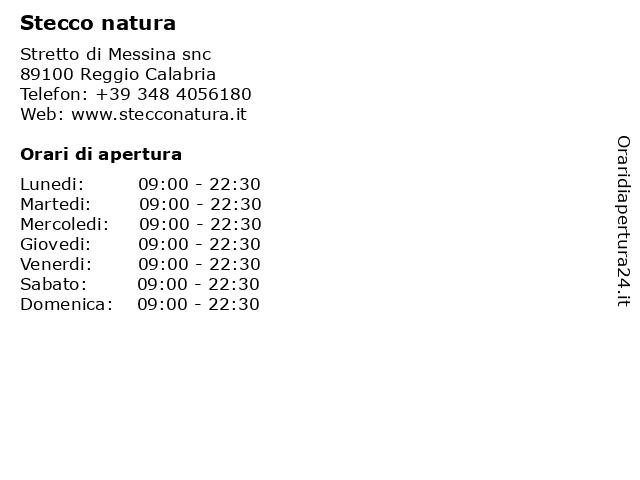 Stecco natura a Reggio Calabria: indirizzo e orari di apertura