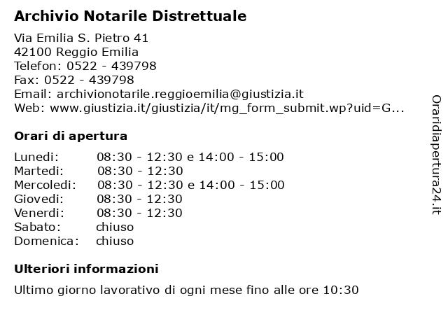 ᐅ Orari Di Apertura Archivio Notarile Distrettuale Via Emilia S Pietro